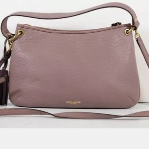 Coach Pink Leather Tassel Bag